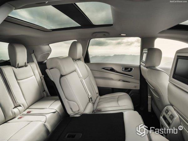 Задний диван QX60 отформован для двух пассажиров