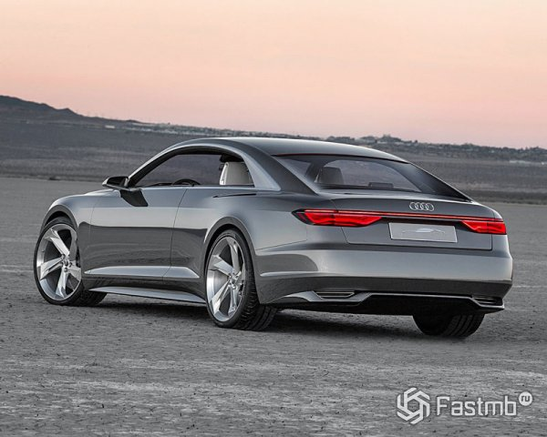 Audi A9, вид сзади
