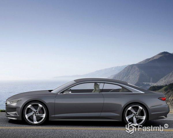 Audi A9 концепт, вид сбоку