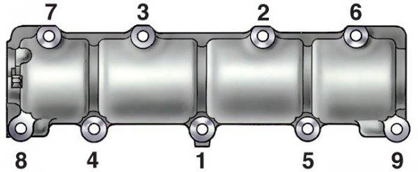 Порядок затяжки корпуса распредвала на ВАЗ 2107