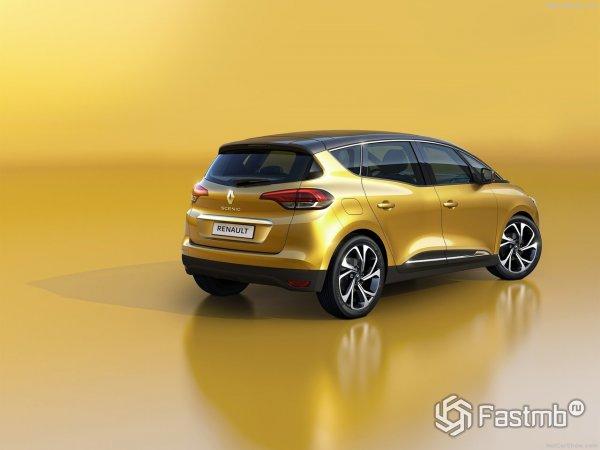 Renault Scenic 2017 - вид сзади и сбоку справа