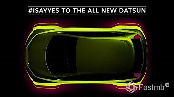 Datsun показал первый тизер будущего бюджетного кроссовера