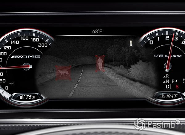 2015 Mercedes S63 Night View Assist
