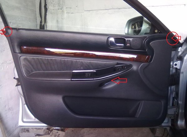 Снимаем обшивку двери Audi A4
