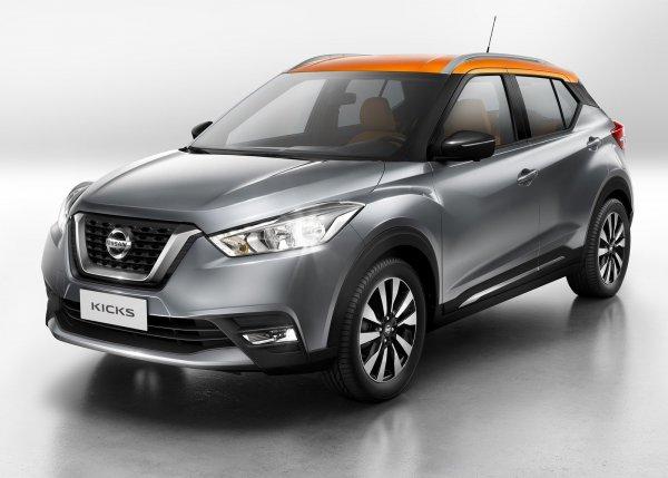 Nissan Kicks 2017, вид спереди