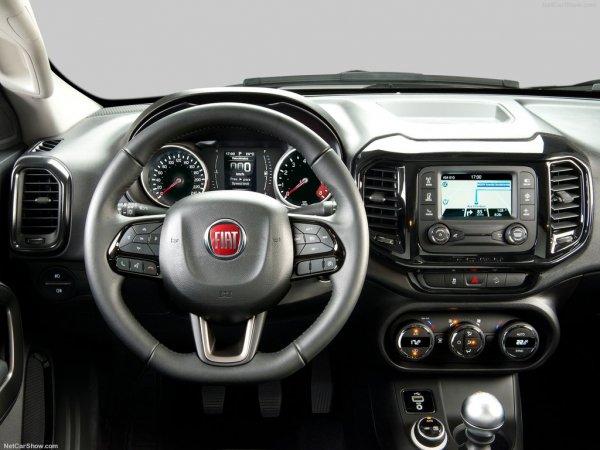 Новый Фиат Торо, рулевое колесо и панель управления