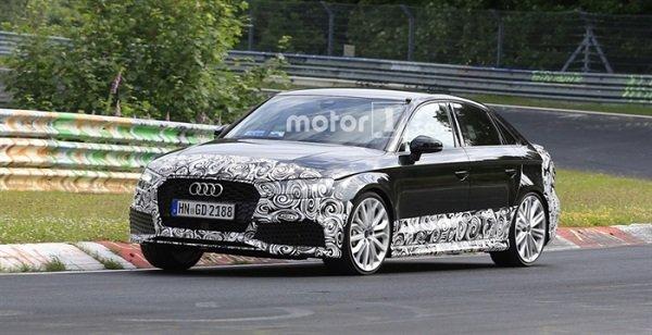 Новый Audi RS3 был замечен на трассе Нюрбургринга