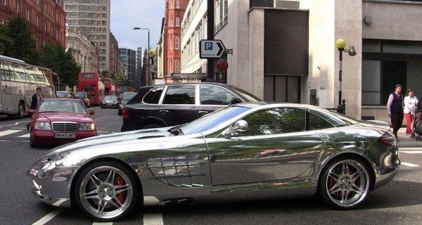 Mercedes-Benz SLR McLaren V10 Quad-Turbo Brabus White Gold