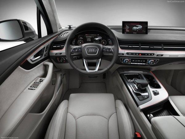 Q7 2016 года, рулевое колесо и панель управления