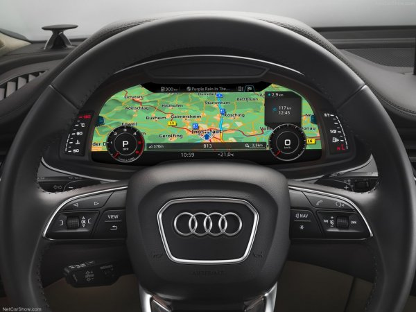 Ауди Q7 2016, руль и панель управления