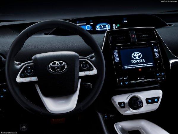 Prius 2016 года, руль и панель управления