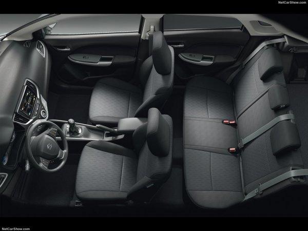 Suzuki Baleno 2016, интерьер и сидения