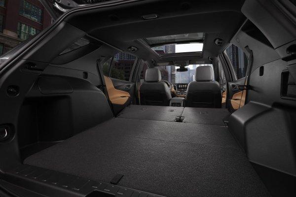 Багажник со сложенными сиденьями
