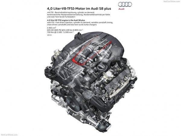 Audi S8 plus 2016, двигатель