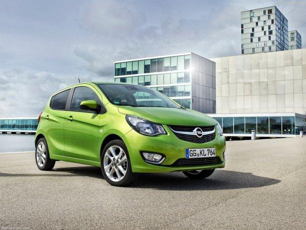 Opel Karl 2015, вид спереди и сбоку справа