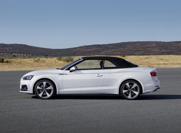 Audi A5 cabrio, вид сбоку