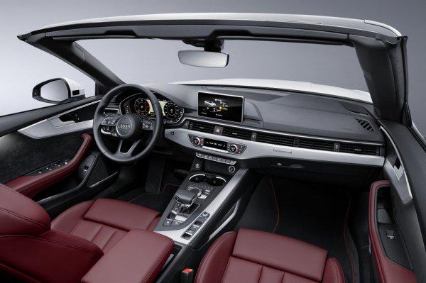 Интерьер кабриолета Audi A5