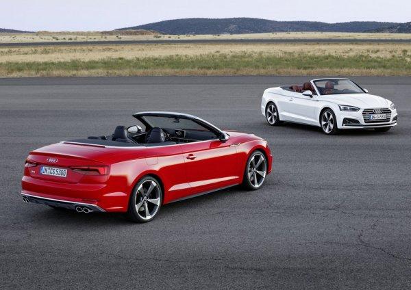 Кабриолет белый Audi A5 и красный S5
