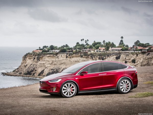 Tesla Model X 2017, вид сбоку слева