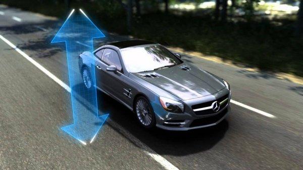 Гидропневматическая подвеска на автомобиле Mercedes