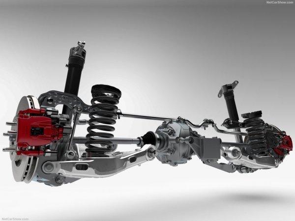 Конструкция задней подвески Jaguar F-Pace 2017