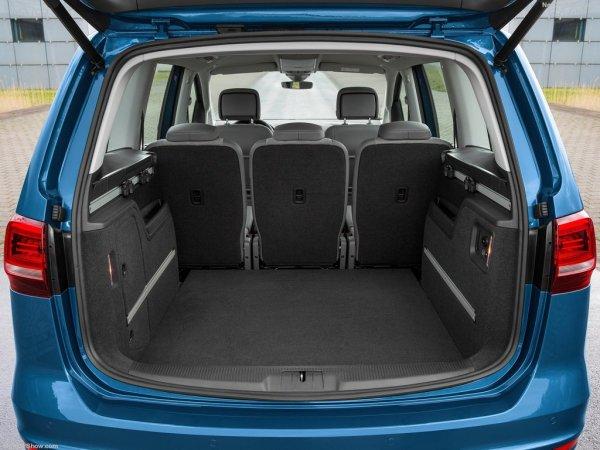 Volkswagen Sharan 2016, багажник