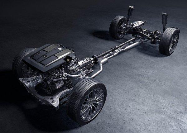 Подвеска и двигатель Lexus LS 500 2018