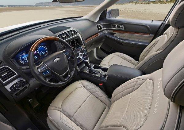 Интерьер Ford Explorer 2016