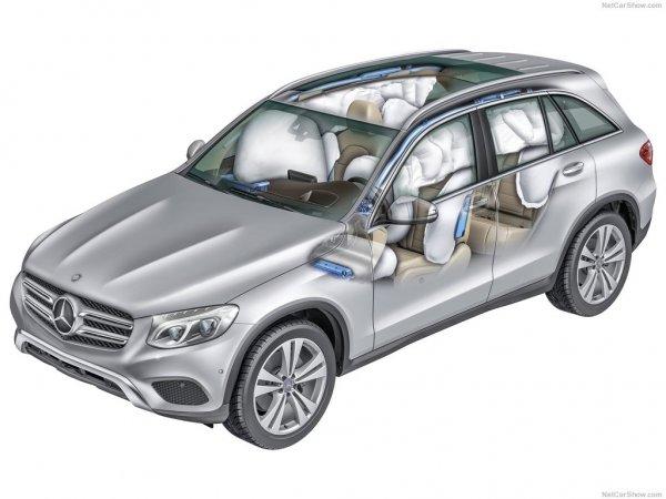 Mercedes-Benz GLC 2016, подушки безопасности