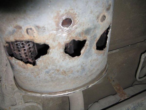 Как отремонтировать прогоревший глушитель