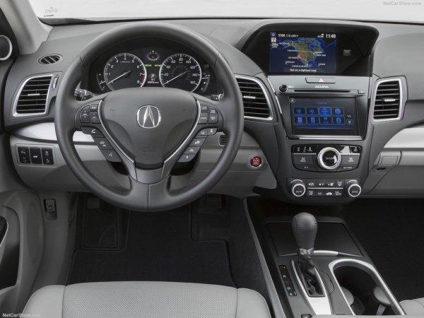 Acura RDX 2017, руль и панель управления