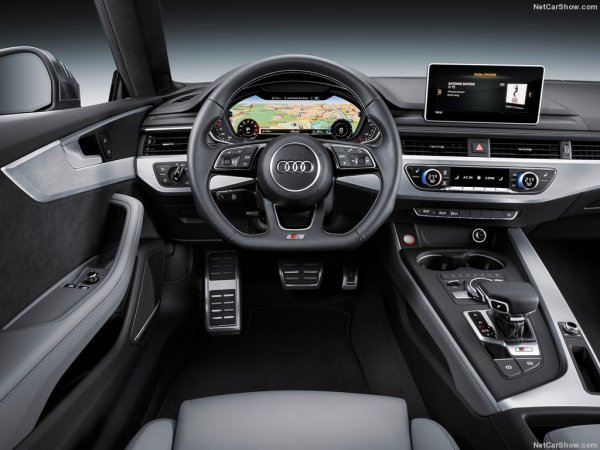 S5 Coupe 2017, руль и панель управления