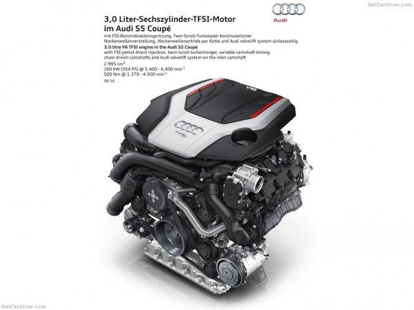 Ауди S5 Coupe 2017 года, двигатель