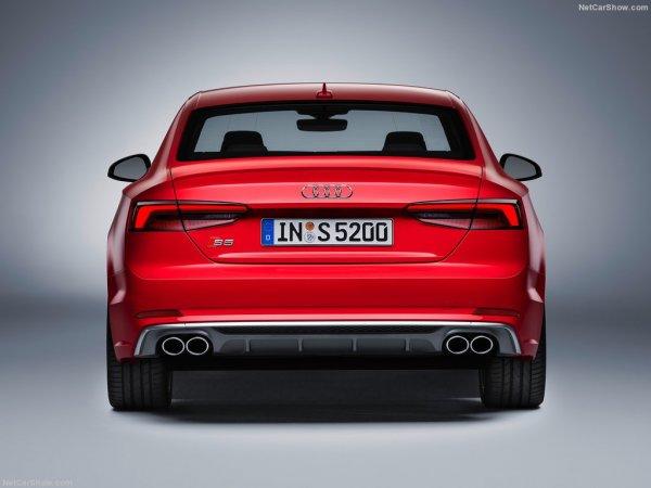 S5 Coupe 2017, вид сзади