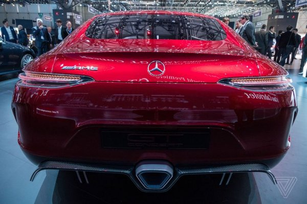 Mercedes AMG GT Concept, вид сзади