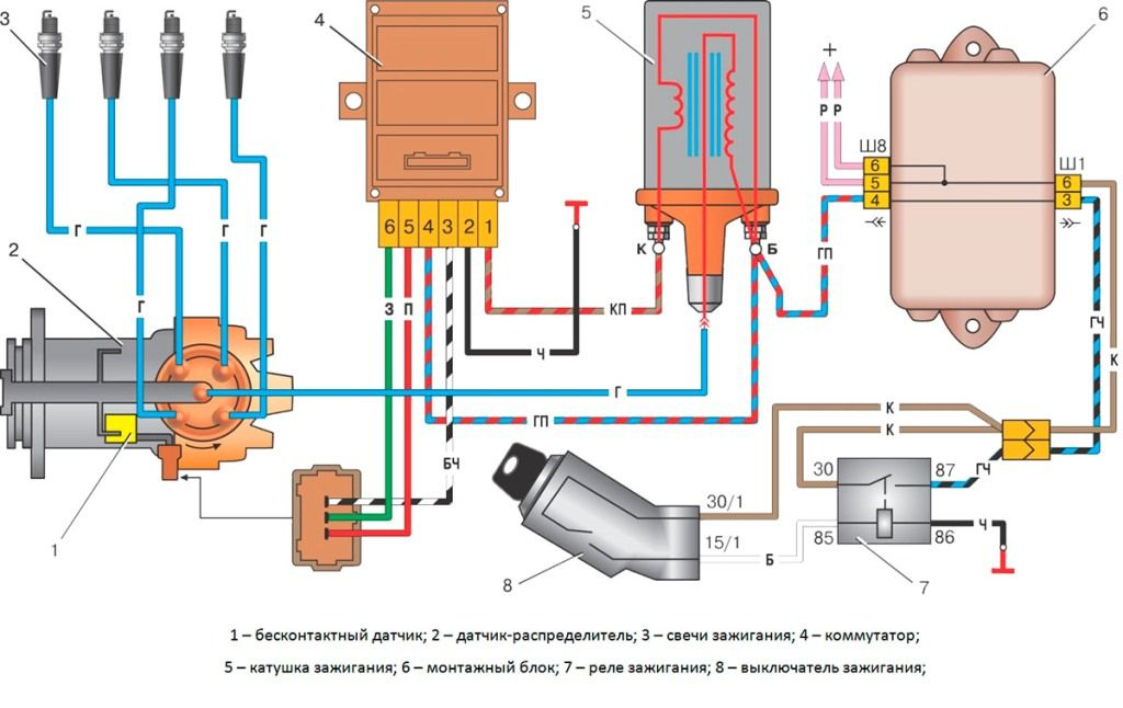 Схема подключения бесконтактной системы зажигания фото 387