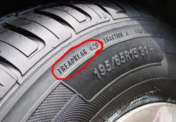 Коэффициент износостойкости шин Treadwear