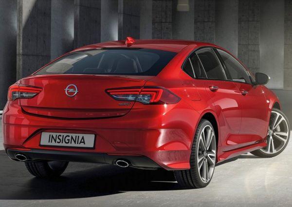 Opel Insignia Grand Sport 2017, вид сзади