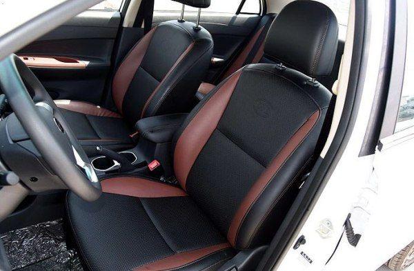 Передние сидения BYD F3 неплохо отформованы