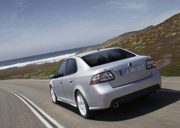 Saab 9-3 Sport Sedan 2008, вид сзади