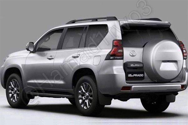 Новый Toyota Land Cruiser Prado 2018, вид сзади