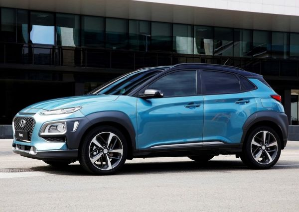 Hyundai Kona, вид сбоку