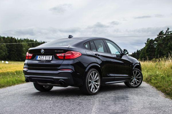BMW X4 M40i 2017, вид сзади