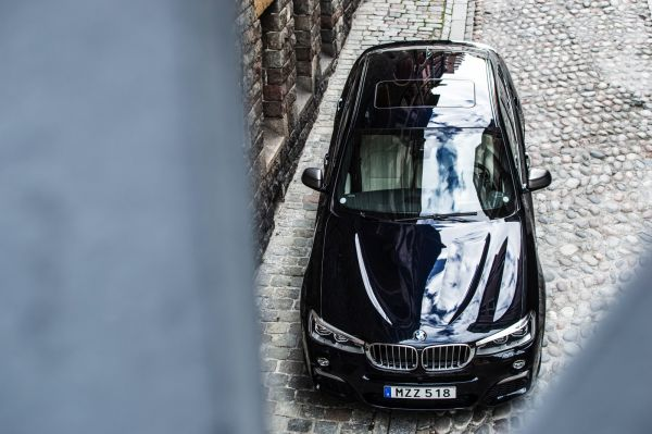 BMW X4 M40i 2017, вид сверху