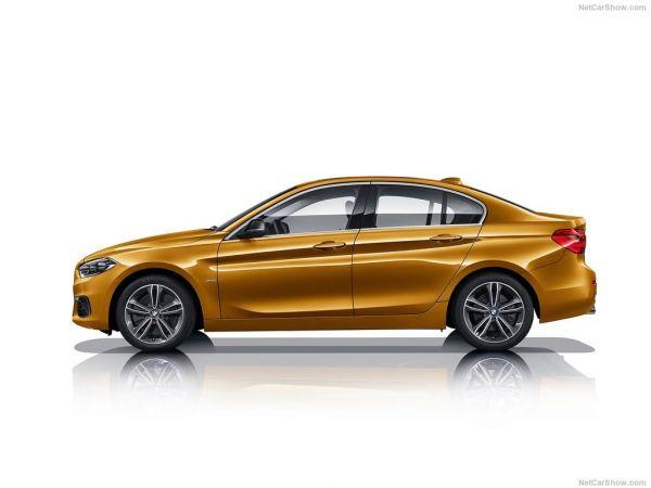 BMW 1-Series Sedan 2017, вид сбоку слева