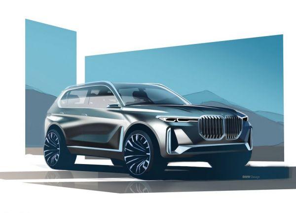 Гибридный внедорожник BMW X7 iPerformance Concept 2017