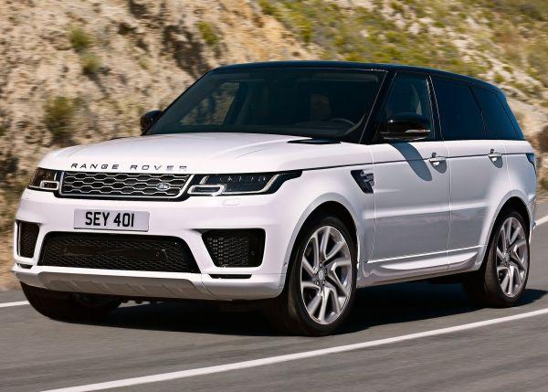 Передняя часть нового Land Rover Range Rover Sport PHEV 2018