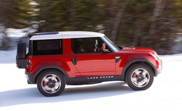 Бокова часть нового Land Rover Defender