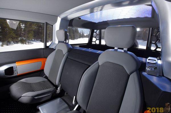 Передние сиденья двухместного Land Rover Defender 2018
