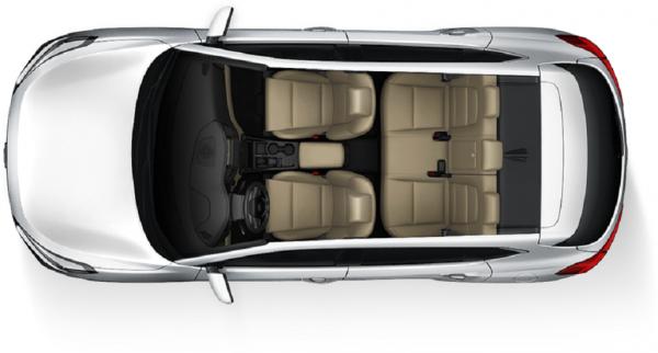 Hyundai Tucson 2017-2018, интерьер - вид сверху